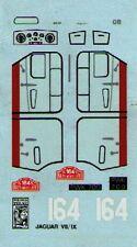 decal 1/43  JAGUAR MK VII/IX 1° RALLYE MONTECARLO 1956 PROVENCE MOULAGES DE004
