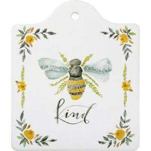 "New Colorful  Vintage Style Bee Kind"" Trivet"