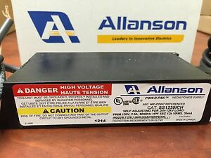 Allanson SS1235ICH Self Adjusting 2K-12KV, 35mA Electronic Neon Sign Transformer