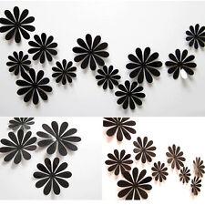 12 Set 3D Blumen Wandtattoo Wanddeko Wandtatoo Wandaufkleber Neu