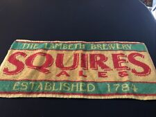 Vintage The Lambeth Brewery Established 1784 Squires Ales Bar Towel!