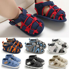 0-18M Infant Newborn Baby Boy Summer Bandage Soft Prewalker Sandals Single Shoes