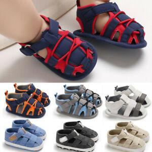 0-18M Infant Newborn Baby Boy Summer Bandage Soft Prewalker Sandals Single Shoes