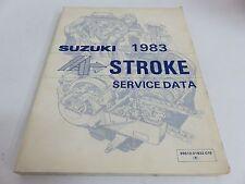 Oem Suzuki 1983 4 Stroke Service Data English Pn 99510-01832-01E