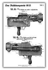 WW1 German MG08/15 Maxim Machine Gun Training Chart - Receiver