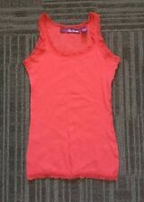 Epic Threads Tank Top M S 7 8 Pink Cotton Lace Trim Nice Peach Orange