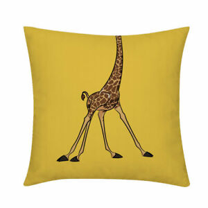 Cute Q Version Animal Elephant Lion Giraffe Plush Cushion Cover Throw Pillowcase