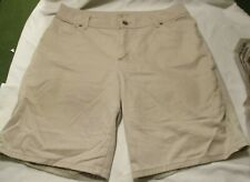 "16M RIDERS BY LEES Beige Tan Womens Shorts 5 pocket style 35"" waist"