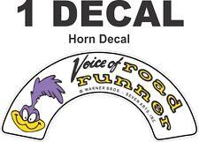 1 OEM Size Superbird Roadrunner Road Runner Horn Decal - Sharp & Crisp