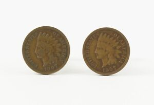 Indian Head Penny Cufflinks Coin Pennies Native Money American Jewelry