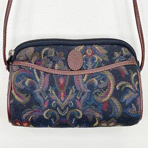 Liz Claiborne Vintage 1990 Deadstock Tapestry Shoulder Bag Matching Coin Purse