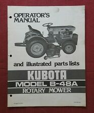 Original Kubota B6100 B7100 Tractor B 48a 48 Mower Deck Operators Manual