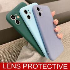 Para IPHONE Se 2020 11 Pro XS Max XR X 7 8 Mate Silicona Protector Funda Blanda