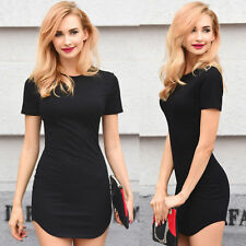 Casual Short Sleeve Evening Party Cocktail Short Dress Women Mini Bodycon Dress