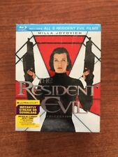 The Resident Evil Collection (Blu-ray Disc,2012,5 Movies+HD codes included)NEW