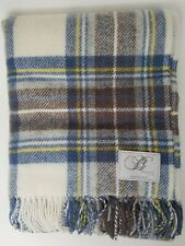 Great Deal 👉Bronte By Moon Throw /Tartan /Muted Blue Stewart / Never Used