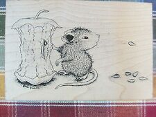 "Vintage House Mouse Stampa Rosa ""Spitting Apple Seeds"" Rubber Stamp #26 - 2000"
