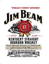 JIM BEAM EDIBLE REAL ICING CUSTOM BIRTHDAY CAKE DECORATION TOPPER IMAGE