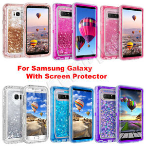 For Samsung Galaxy S9 Plus/Note 8/9 Liquid Glitter Case Cover