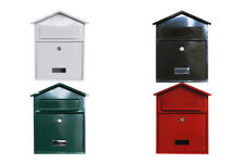 Lockable Steel Wall Mounted Mailbox Postbox Letterbox Secure Letter Box Post Box