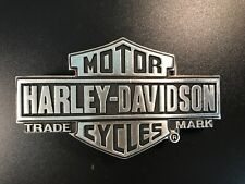 "Harley-Davidson mens ""traditional"" B@S belt buckle .#HDMBU10077.Silver plated."