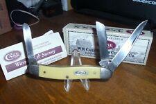 "2004 Case, 3318 CV,  Smooth Yellow Delrin Handles , 3-1/2"" Closed Stockman"