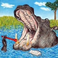 hippopotamus brushing teeth picture hippo art tile gift