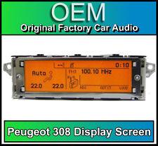 Peugeot 308 display screen, RD4 radio LCD Multi function clock dash
