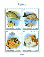 Sao Tome & Principe 2021 MNH Fish Stamps Fishes Surgeonfish Red Snapper 4v M/S
