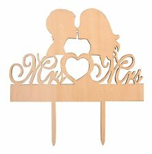 Gay Lesbian Couple Wedding Cake Topper Mrs & Mrs Silhouette Party Decoration ...