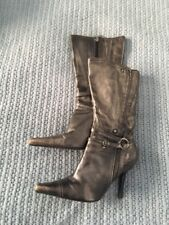 Faith Bronze/Gold Metallic Sexy Ladies Leather Calf High Boots Size 5 (38)