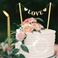 1 Set Love Flag Wedding Cake Topper for Wedding Party Cake Decoration SuppliATA