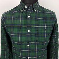 DOCKERS Levi's Mens Vintage THICK SHIRT XL Long Sleeve Green Regular Fit Check
