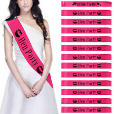 New 12 X Hen Party Sashes Girls Night Out Accessory Bride Wedding Sash Hot Pink
