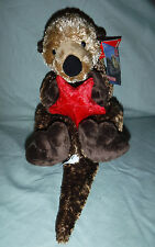 "Aurora Sea Otter 12"" with Starfish Plush Soft Toy Stuffed Animal"