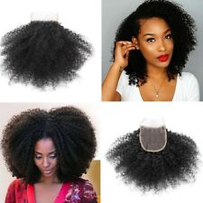 """Afro Kinky Curly Lace Closure 4x4"""" Free Part Mongolian Virgin Human Hair 10''"""