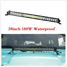 1pcs Waterproof 20inch Single Row Slim LED Work Light Bar For Car Off road Truck