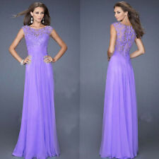 Women Formal Long Lace Dress Prom Evening Party Cocktail Bridesmaid Wedding Gown