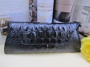 NEW - Genuine Leather Ladies Hand Bag / Wallet- Black