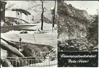 Ansichtskarte Personenschwebebahn Thale/Harz - Motivkarte - schwarz/weiß