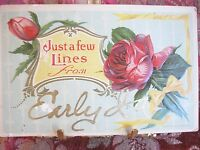 ANTIQUE POST CARD FROM EARLY IOWA TO RUTH LUCILE MCLAUGHLIN IN SAC CITY 1910