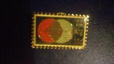 Vintage (Jg&A) Collective Bargaining Usa Stamp Pin Metal Gold Tone Jonathan Grey