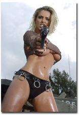 GIRL WITH GUN REFRIGERATOR MAGNET LOCKER CHRISTMAS GAG GIFT MAN CAVE SEXY
