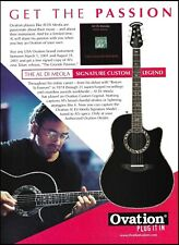 Al Di Meola 2001 Signature Ovation Custom Legend guitar 8 x 11 ad print