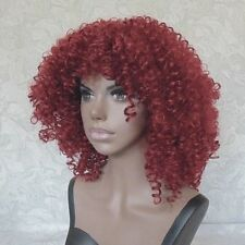Quality Super Curly Afro Wine Red Heat Resistant Full Synthetic Wig - #29