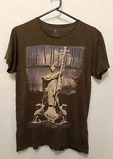 Men's T-Shirt Sz S Cotton On Mushroom Grey Rensirse Motif Short Sleeve Stretch