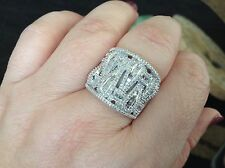 Genuine 1.25 ctWhite Diamond Rhodium overlay Sterling Silver Ring
