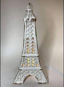 Ceramic Eiffel Tower Lamp White Small