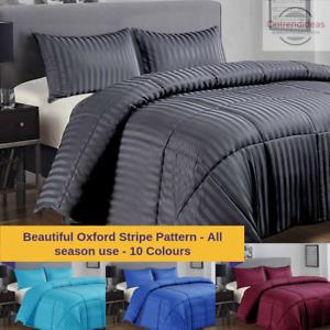 Ramesses 3 Piece Damask Stripe Comforter Set 3pc All-Season Filled Bedding Set