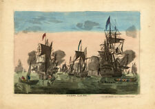 Antique Maritime Optical Print-SEA BATTLE-FRENCH NAVY-Mondhare-1775